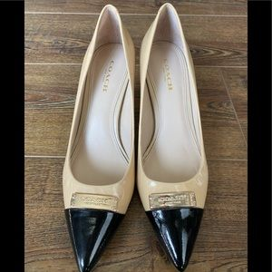 Coach Pointed Toe Patent Pump